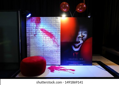 BANGKOK, THAILAND, 29 Aug 2019 - A beautiful standee of a movie called IT Chapter Two display at the cinema to promote the movie