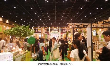 Bangkok, THAILAND - 29 JULY 2017:Organics and natural expo 2017 ,  27-30 JULY 2017 at Queen Sirikit National Convention Center