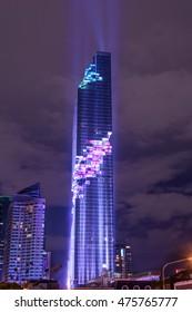 BANGKOK - THAILAND 29th AUGUST, 2016 : Grand opening for Mahanakhon cube,. Mahanakhon is the new highest building in Bangkok.