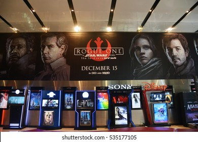 Bangkok, Thailand - 3 December, 2016: Giant Poster of Rogue One: A Star Wars Story at the theater