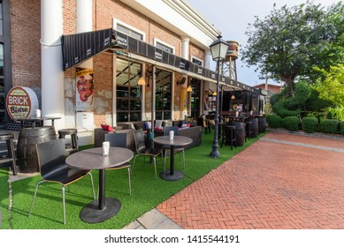 Bangkok , Thailand -  31  May, 2019 : Brick Bistro restaurant & bar at ASIATIQUE The Riverfront shopping center