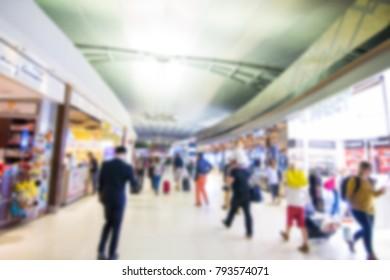 BANGKOK THAILAND 4 January 2018:  people shopping in duty free at Suvarnabhumi airport Bangkok Thailand.