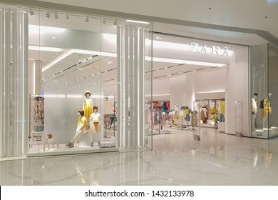 BANGKOK, THAILAND - 5 APR 2019: ZARA fashion store in ICONSIAM shopping mall. Zara is a Galician fast fashion clothing and accessories retailer based in Spain.