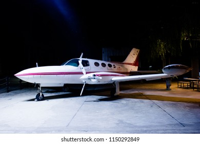 BANGKOK, THAILAND - 6 AUGUST 2018: 1963 Cessna 340 multi-engined civil aircraft.