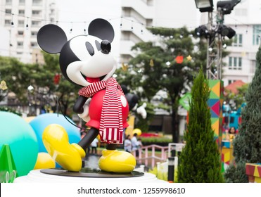 BANGKOK ,THAILAND, 8 December 2018:Christmas and Happy New Year 2019 event at King Power Rangnam, Bangkok, Thailand in concept of Disney Endless Celebration. Free of entry event.