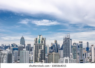 BANGKOK THAILAND, 8 May, 2018 : Bangkok cityscape skyline from sukhumvit area which is metropolis & favorite city of tourists around the world. The city located between modern building skyscrap