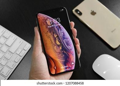 BANGKOK THAILAND : Apple launch new smartphone iPhone XS & iPhone XS Max on October 20 ,2018 bangkok ,thailand