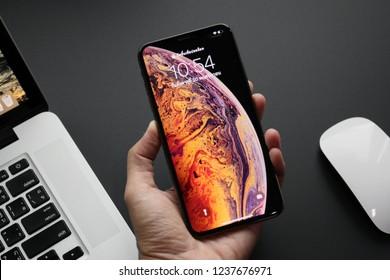 BANGKOK THAILAND : Apple launch new smartphone iPhone XS Max on October 20 ,2018 bangkok ,thailand