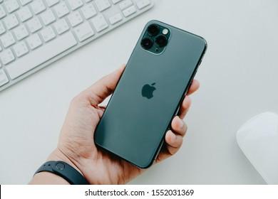 BANGKOK THAILAND : Apple launch new smartphone iPhone 11 Pro on October 18 ,2019 bangkok ,thailand