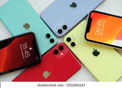 BANGKOK THAILAND : Apple launch new smartphone iPhone 11 on October 18 ,2019 bangkok ,thailand