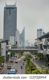 BANGKOK, THAILAND - Apr 12, 2013: There is an hour when streets aren't loaded. Bangkok is one of the most important economic and transport centres in South-East Asia