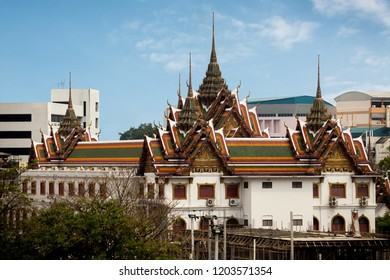 BANGKOK, THAILAND - Apr 12, 2013: Wat Yannawa Temple is an ancient Buddhist temple, located in Chinatown of Bangkok