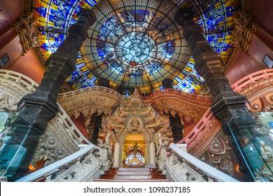 Bangkok, Thailand - Apr 22, 2018. Interior of Erawan Museum in Bangkok, Thailand. The Museum is the door opening to the heritage of Thai culture.