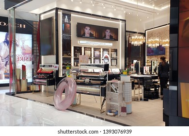 BANGKOK, THAILAND - APR 5, 2019: Estee Lauder cosmetic store in Icon Siam Mall. The Estee Lauder Companies is an American manufacturer of prestige skincare, makeup, fragrance and haircare product.