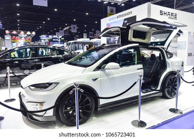 Bangkok Thailand - APRIL 03 2018 Tesla Model X with Falcon Wing Doors & Falcon Winged Doors Images Stock Photos \u0026 Vectors | Shutterstock