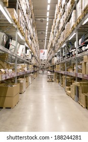 BANGKOK, THAILAND - April 20, 2014: IKEA store in Bangkok. IKEA is the world's largest furniture retailer. Flat pack furniture are designed to be purchased directly in the self service area.