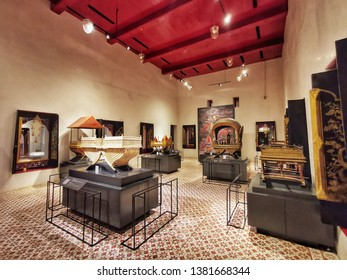 Bangkok, Thailand - April 20, 2019: Bangkok National Museum, where is the first public museum of Thailand and is the learning center that is collecting the largest of Thai art and artifacts.