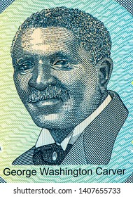 Bangkok - Thailand, April 22, 2019, George Washington Carver on 50 Dollars ALABAMA 22th state, Fancy polymer money Set of states. Applied Currency Concepts. Banknotes Collection.