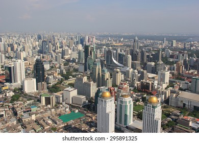 Bangkok, Thailand - April 28, 2015: Beautiful Scenery of Bangkok, Thailand, viewed from Baiyoke Tower 2, the highest building in Thailand.