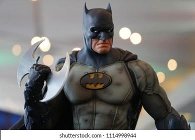 Bangkok Thailand - April 29, 2018: Figure model superhero character of Batman, Toy exhibition show