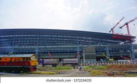 Bangkok, Thailand - April 3, 2019: Construction of Bang Sue Central Station or Bang Sue Grand Station