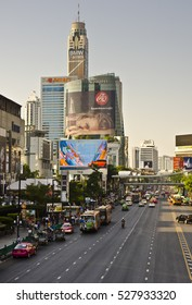 BANGKOK, THAILAND - APRIL 8: city view from Ratchaprasong Junction on April 8, 2016 in Bangkok, Thailand. Bangkok is the capital of Thailand and has a population of 8.28 million.