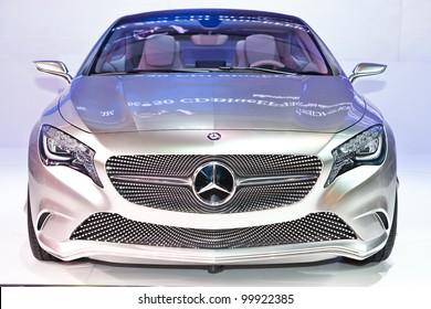 BANGKOK, THAILAND - APRIL 8: The Mercedes-Benz Concept A-class in the 33rd Bangkok International Motor Show on April 8, 2012 in Bangkok, Thailand.