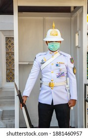 Bangkok Thailand Asia The Military Guard on Service by the Royal Grand Palace 21.December 2020