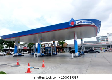 Bangkok, Thailand - AUG 20,2020 : PTT gas station. PTT Public Company Limited or simply PTT is a Thai state-owned SET-listed oil and gas company.Formerly known as the Petroleum Authority of Thailand.
