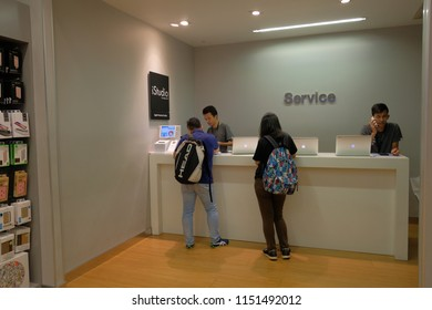 Bangkok, Thailand - AUG 3, 2018 :  Apple service zone for apple product introduction and Repair in Department store.