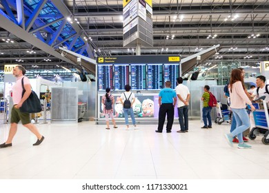 BANGKOK, THAILAND – August 10 ,2018 : inside Suvarnabhumi International Airport, Bangkok, Thailand