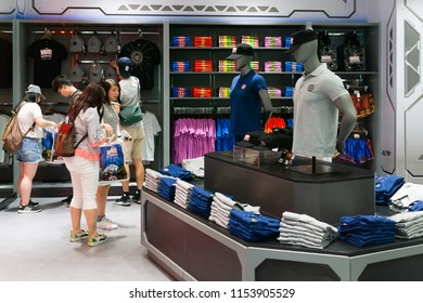 Bangkok, Thailand - August 11, 2018. - Shop at The marvel experience superstore in Bangkok Thailand.  The marvel experience superstore is a retail store for a fan of Marvel Superheroes comics.