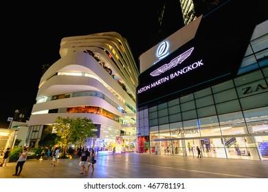 Bangkok, Thailand - August 12, 2016: Emquartier shopping mall at BTS Phrom Phong station