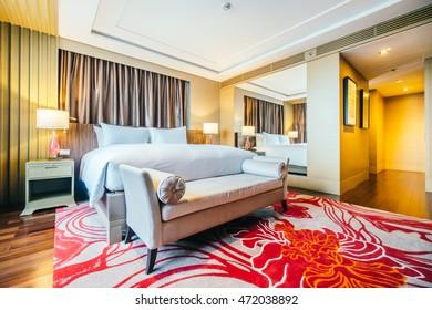 BANGKOK, THAILAND - AUGUST 12 2016: Beautiful luxury bedroom interior decoration in Hotel