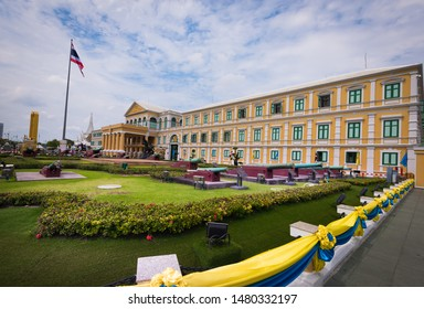 Bangkok , Thailand - August , 14,2019 :Ministry of defense of the Thailand Located near to Wat Phra Kaew in Bangkok , Thailand.