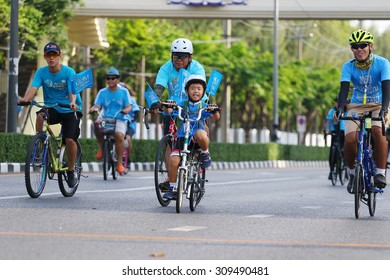Bangkok, Thailand - August 16, 2015:Queen Sirikit, Bike for Mom to mark her 83rd birthday. the queen birthday on 12 August which is also a national holiday and celebrated as Mother Day in Thailand