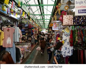 Bangkok, Thailand - August 2 2019: Wang Lang Market (Talat Wang Lang), a famous market located in Bangkok Noi. Near Siriraj Hospital. Opposite to Thammasat Uni. Famous of Southern food and Sushi.