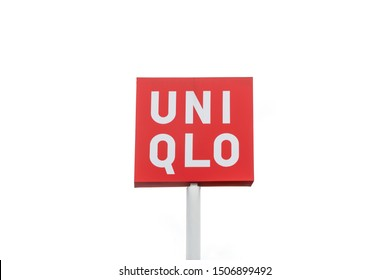 Bangkok, Thailand - August 20, 2019 : Uniqlo logo on white background. Uniqlo is a Japanese casual wear designer, manufacturer and retailer.