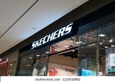 BANGKOK - THAILAND - AUGUST 21 2018 : View front of Sketchers shop at Central Pinklao Shopping Store , Bangkok, Thailand on August 21,2018.