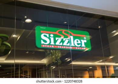 BANGKOK - THAILAND - AUGUST 21 2018 : View of Sizzler shop store front at Central Pinklao Shopping Store , Bangkok, Thailand on August 21,2018.