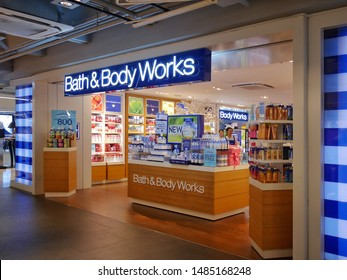 Bangkok, Thailand - August 21, 2019 : Bath and Body Works store at Siam Center shopping mall. Bath and Body Works is an American bath and beauty products.