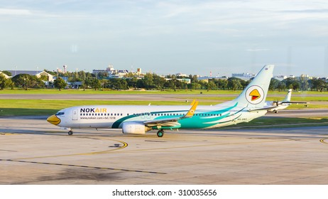 BANGKOK, THAILAND - August 22 : Airplane at Don Mueang International Airport on August 22 2015 in Bangkok, Thailand.