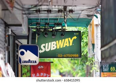 BANGKOK, THAILAND - AUGUST 24, 2016: Lavazza coffee shop in downtown of Bangkok.