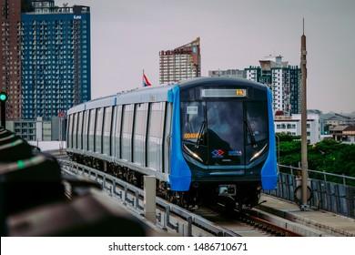 Bangkok, Thailand - August 24, 2019 : The first day at MRT Bang Wa station.