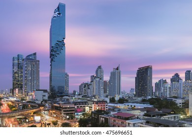 Bangkok, Thailand - August 26, 2016: Bangkok's new tallest building, MahaNakhon that just had a Grand Opening event on August 29, 2016.