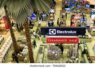 BANGKOK, THAILAND - August 27:Electrolux holds a clearance sale in The Mall Bangkhae shopping mall on August 27,2017 in Bangkok.