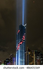 Bangkok, Thailand - August 29, 2016 : Mahanakorn Building Grand Openning, Mahanakorn is a first tallest building in Bangkok, Thailand.