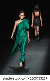 Bangkok, Thailand - August 29, 2019: Models walk on runway during 25x25 Presented by CentralWorld Show on ELLE Fashion Week F/W 2019, show by 25 leading brands to celebrate 25th anniversary of ELLE Ma