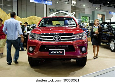BANGKOK, THAILAND - AUGUST 6: The Toyota Hilux Revo is on display at the Bangkok International Grand Motor Sale 2015 at Bitec on August 6, 2015 in Bangkok, Thailand.