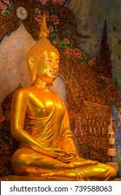 BANGKOK, THAILAND : The Buddha image in the temple, Bangkok on October 14, 2017 in Thailand.